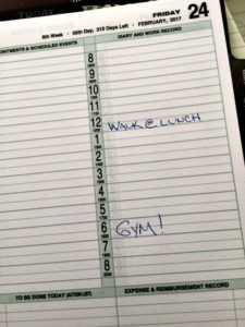 get active by scheduling exercise on your calendar