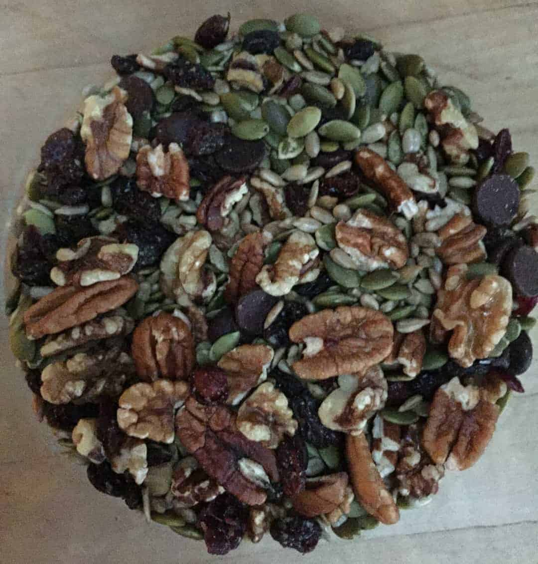 Homemade Trail Mix with nuts and seeds