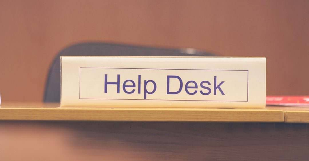 Mentor or Coach - Help Desk Sign