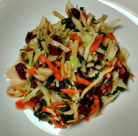 Healthy Kale and Cabbage Slaw