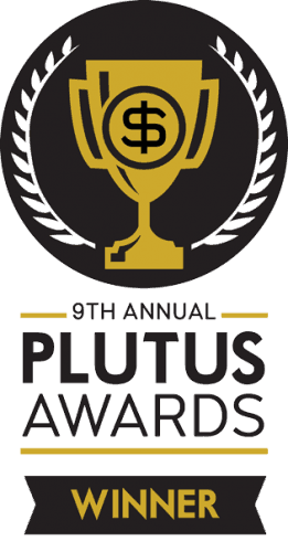 plutus award winner badge