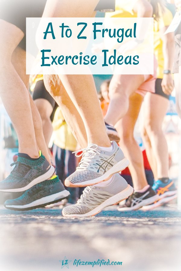 a to z frugal exercise ideas